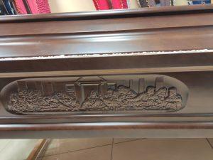 Заказать деревянный гроб с изображением тайной вечери